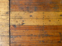 Piso de madera sucio Imagen de archivo libre de regalías