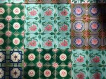 Piso de mosaico colorido Fotografía de archivo