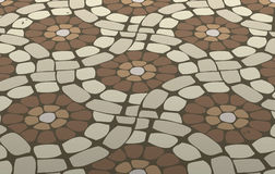 piso de mosaico de la teja Foto de archivo