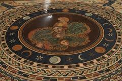Piso de mosaico en museo del Vaticano Imágenes de archivo libres de regalías