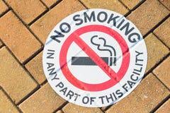 Piso de no fumadores de la señal de peligro al aire libre Fotos de archivo