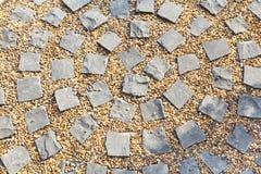 Piso de piedra del adoquín Fotos de archivo libres de regalías