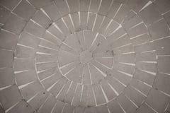 Piso de piedra en un modelo circular Foto de archivo libre de regalías