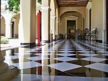 Piso de una de las mansiones en la avenida de Montejo, Mérida, ¡n de Yucatà imagenes de archivo
