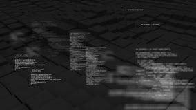 Piso del cubo 3D que agita con los textos que aparecen en poca letra ilustración del vector