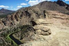 Piso del valle del río torcido Imagenes de archivo
