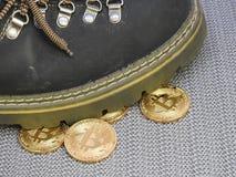 Piso em Bitcoins Fotografia de Stock Royalty Free