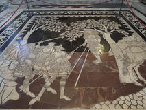 Piso en la catedral - Siena Fotos de archivo libres de regalías