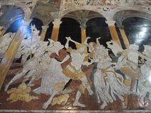 Piso en la catedral - Siena Imágenes de archivo libres de regalías