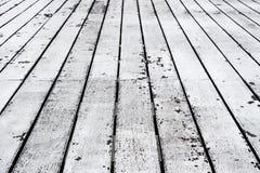 Piso envejecido de madera viejo Foto de archivo