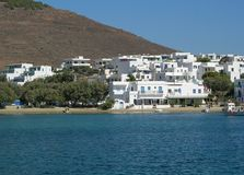Piso livadi. The village of piso livadi inon the island of paros Stock Image