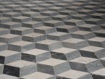 Piso modelado geométrico integrado de la piedra o del mármol Fotografía de archivo