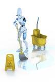 Piso que aljofifa del robot Imagen de archivo libre de regalías