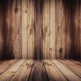 Piso y fondo de madera Foto de archivo