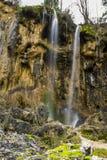 Pisoaia瀑布 库存图片