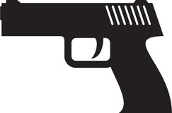 Pisol. Vector image of a hand gun royalty free illustration
