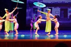 Pisotee en la exposición de enseñanza de clasificación Jiangxi del logro de los niños de la prueba de la academia de la danza de  imágenes de archivo libres de regalías