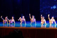 Pisotee en la exposición de enseñanza de clasificación Jiangxi del logro de los niños de la prueba de la academia de la danza de  fotos de archivo libres de regalías