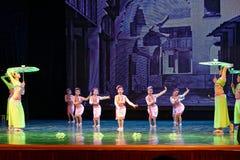 Pisotee en la exposición de enseñanza de clasificación Jiangxi del logro de los niños de la prueba de la academia de la danza de  fotografía de archivo