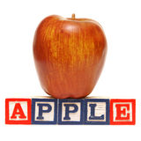Pisownia Apple Zdjęcia Stock
