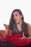 Pissée femme photographie stock libre de droits