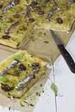 pissaladiere francuska cebulkowa pizza Obraz Stock