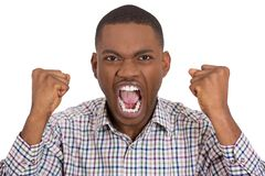 Pissed off irritated guy yelling Royalty Free Stock Photo