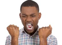 Pissed off irritated guy yelling Stock Images