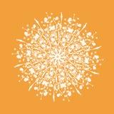 Pissenlit stylisé de blanc d'aquarelle Image stock