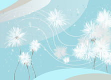Pissenlits bleus Image stock