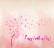 pissenlits de fleur d'aquarelle la fleur de jour donne à des mères le fils de momie à illustration de vecteur