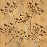 Pissenlits de fleur - fond sans couture - structure en bois Photo libre de droits
