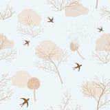 Pissenlits, fleurs sèches et hirondelles Photographie stock
