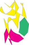 Pissenlits jaunes dans l'ortie illustration libre de droits
