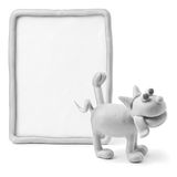 Pissing dog & empty board Stock Images