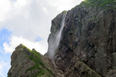 Mare Falls. At Western Brook Pond in Gros Morne National Park, Newfoundland, Canada royalty free stock photos
