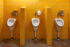 pissoar för badrum tre Royaltyfria Bilder