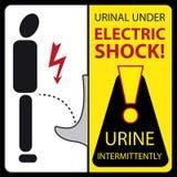 Pissoaren under elkraft chockar - urine intermittent stock illustrationer