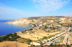 Pissouri bay. In Cyprus,residential area Royalty Free Stock Photo