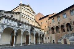 Pistóia (Toscana), fachada de la catedral Fotografía de archivo