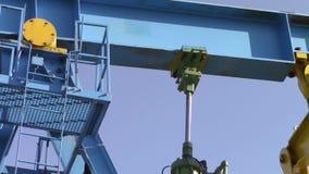 Pistón hidráulico de la bomba de aceite almacen de metraje de vídeo
