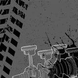 Pistón y cigüeñal del coche en un fondo oscuro Fotografía de archivo libre de regalías