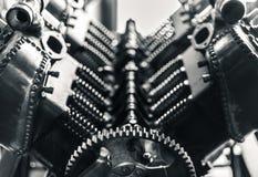 Pistões e engrenagem Aero do motor Fotografia de Stock Royalty Free