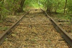 Pista abbandonata della strada di ferrovia fotografie stock