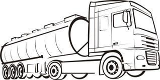 Pista & camion Illustrazione di Stock