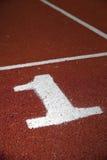 Pista atlética Imagen de archivo libre de regalías