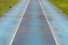 Pista azul Foto de archivo libre de regalías