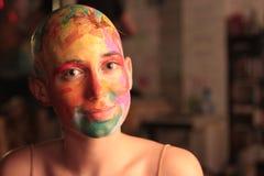 Pista calva pintada Imagenes de archivo