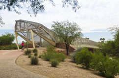 Pista ciclabile di aviazione e ponte del crotalo, Tucson, Arizona Fotografia Stock