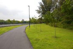 Pista ciclabile di camminata e Fotografia Stock